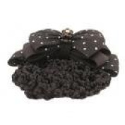 . Beads on Fabric Bow Barrette + Snood