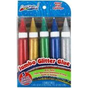 Washable Jumbo Glitter Glue 40mls 5/Pkg Classic