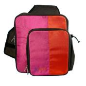 O Yikes Tangerine & Raspberry Slingback Nappy Bag