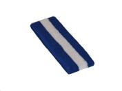 2 Pieces Sports Athletic Terry Cotton Cloth Sweatband Headband/BLUE-white-BLUE