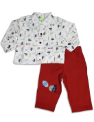SnoPea - Newborn And Infant Boys Long Sleeve Pant Set, White, Red 25810