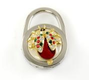 "Stylish Foldable Handbag Holder Red ""Beetle"" Purse Hook"