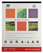Grafix Wet Media .004 Dura-Lar Film, 48cm by 60cm , 12 Sheets