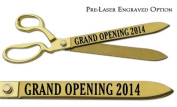 "Pre-Laser Engraved ""GRAND OPENING 5120cm 38cm Gold Plated Ceremonial Ribbon Cutting Scissors"
