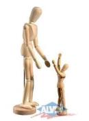Wooden Human Mannequin (Unisex) 14cm Tall