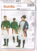Burda 2471 Mens Pattern Napoleon French Soldier Uniform Colonial Costume Size 36 - 48