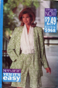 See & Sew Pattern 5968 ~ Misses' Unlined Jacket & Playsuit ~ Sizes 12-14-16