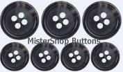 Horn Suit Buttons Set- Dark Grey
