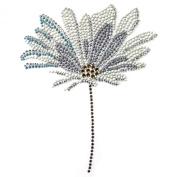 Rhinestone Iron on Transfer Hot Fix Motif Crystal Fashion Design Gerbera Flower 3 Sheets 5.7*18cm