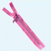 18cm Rhinestone Zippers Closed Bottom ~ Czech Rhinestone Zipper ~ Dual-strand ~ Hot Pink