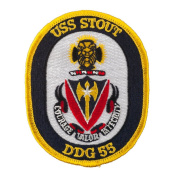 USS Solid Border Patches - USS Stout W01S49D