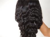 Full Lace Wigs Beauty Brazilian Hair 100% Remy Human Hair Wig Body Wave #1B