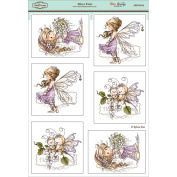 Wee Stamps Topper Sheet 21cm x 31cm -Silver Fairy