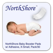 NorthShore Disposable Baby Nappy Doubler w/ Adhesive, X-Small, 30