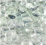 Dashington™ Flat Clear Marbles, Pebbles (2.3kg Bag) for Vase Filler, Table Scatter, Aquarium Decor
