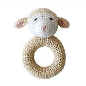 Organic Baby Toys - Cheengoo Lamb Ring Rattle