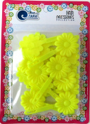 [TARA] Hair Barrette - Neon Yellow