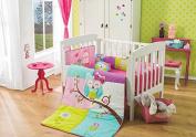 "Special Edition ""Doroty Owl"" 6 Pcs Crib Bedding Set"