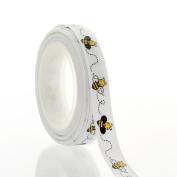 1cm Bumblebee Grosgrain Ribbon 5 Yard