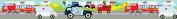 Transport Design Children's Self Adhesive Vinyl Wallpaper Border 15cm Wide 5 Metre Long