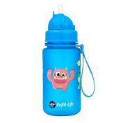 Monstraw's Water Bottle Kids with Straw | Leak Proof | 350ml Flip Top | BPA Free