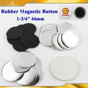 "Rubber Magnetic 1-3/4"" 44mm 100sets Freezer Sticker Badge Button Maker Sale!!"