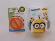 FunBites Food Cutter Set - Minions (Goggles, Silver) & Sandwich Cutter Round Bites Mini Crust