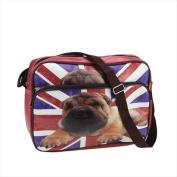 NorthLight 37cm . Decorative Bristish Pug Bag & Purse With Strap