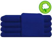 Blue Salon Towel 100% Cotton 41cm x 27. Hand Towel- 1 DOZEN