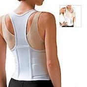 Cincher Women's Posture Back Brace Support Belt - White - Medium 34-100cm Hip by FLA Orthopaedics