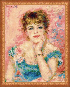 "Riolis cross stitch kit 1439 Вased on Paintings of ""Portrait of Jeanne Samari"""