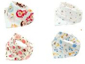 Baby Bandana Drool Bibs by Emma Bean - Soft 100% Cotton - Absorbent - Bandana Drool Bib - 4-Pack - Various Styles - Cute Baby Gift