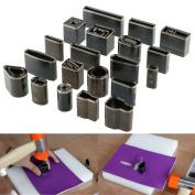Yosoo New 39 Shape Style Leather Craft Set One Hole Hollow Punch Cutter Tool Handmade DIY