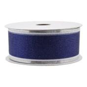 Spritz Fabric Ribbon - 2.5cm - 1.3cm X 11m Metallic Green