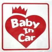 Original sticker Baby In Car Crown Heart (Red) ST-1073