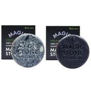 APRILSKIN MAGIC STONE 100% Natural Face Whitening Cleansing Original Soap,Black Soap,,All Skin Types