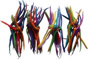 FAIR TRADE FELT 14 KNOT ELASTICATED HAIR SCRUNCHY SCRUNCHIE DREADLOCKS - 4 PACK