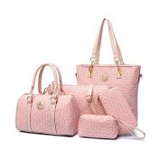 YipGrace Women Handbag Shoulder Bag Crossbody Bag Wallet Purse 5Pcs Set