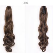 wavy Claw Ponytail Clip in Hair Extensions One Piece Handy Jaw Pony Tail Long Handy Use Beautiful Lady
