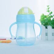 Baby Cup Children Drinking Straw Milk Feeding Nipple Bottle Infant 280ML