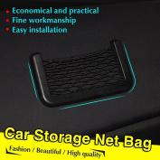 UltiFit(TM) New Black Car Net Organiser Pockets Car Storage Net 15X8cm Automotive Bag Box Adhesive Visor Car Bag For Tools Mobile Phone75