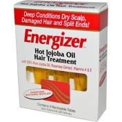 Hobe Labs, Energizer, Hot Jojoba Oil Hair Treatment, 3 Reclosable Tubes, 0.5 fl oz (14.8ml) Each - 2pc