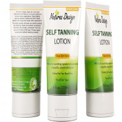 Self Tanning Lotion With Mango & Shea Butter - No More Tan Lines - Achieve Sunless Tanning Without A Tanning Salon - Ditch The Spray Tan & Avoid UV Rays & Streaks With Nature's Design