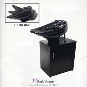 CERAMIC Beauty Salon Backwash Shampoo Bowl Salon Sink with Shampoo Cabinet TLC-CTILTFC