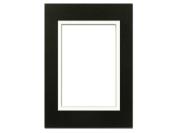 ADF Mat Dbl 5x7/3.5x5 CrmCore Black/White