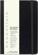 Esstentials Large Black Dot Matrix Notebook
