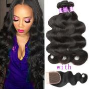 Flady Hair Brazilian Body Wave Virgin Hair 3 Bundles 100% Unprocessed Brazilian Human Hair Weave Bundles Black Colour