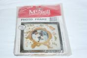 Vintage 1979 McNeill Gold Wreath Photo Frame Needlework Kit No. 1507