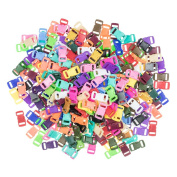 Craft County 200 Piece 1cm Contoured Side Release Plastic Buckles