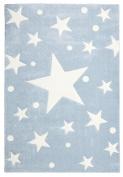 Children's Rug Happy Rugs Stars Blue 120x180 cm